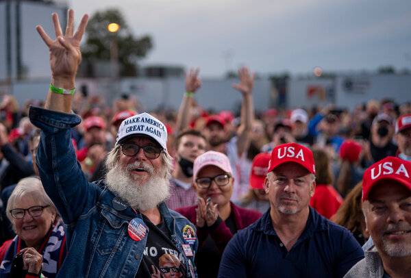Trump supporters at a campaign rally last month in Fayetteville, N.C.