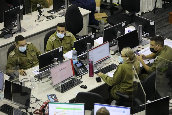 More than 5,000 Israeli soldiers have been deployed to expand testing and contract tracing and offer support to hard-hit localities. In the latest expansion of the military's efforts, about 100 military medical workers will help run two Covid-19 wards in a Haifa hospital.