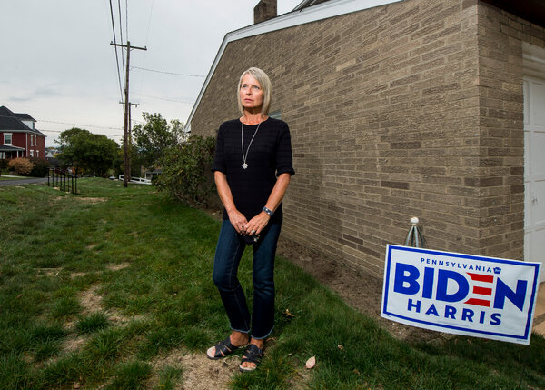 Vicki Simon, a Biden supporter in Scottdale, Pa.