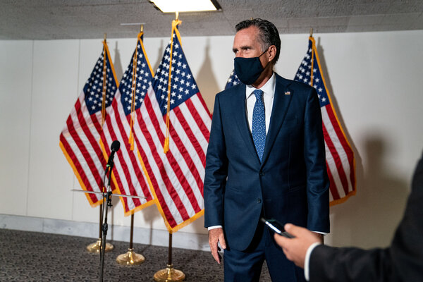 Senator Mitt Romney, Republican of Utah, on Capitol Hill last month.While Mr. Romney rebuked both sides in his statement, he was particularly pointed in his criticisms of Mr. Trump.