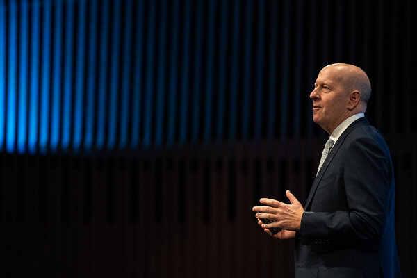 David Solomon, the chief executive of Goldman Sachs, which reported earnings of $3.62 billion in the third quarter (not $3l62 billion as this caption previously stated).