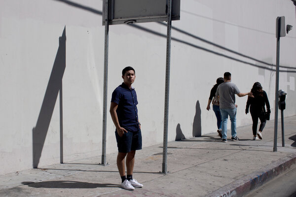 """""""I grew up hearing from my parents that they came here to give their children better lives,"""" said Carlos Yalibat, a student at California State University, Northridge."""