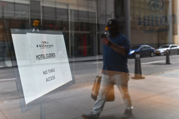 The Hilton Times Square hotel in Manhattan closed permanently.