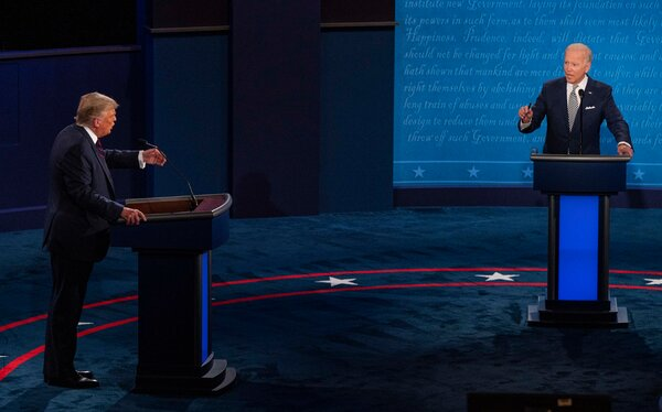 President Trump and former Vice President Joseph R. Biden Jr. took part in the first presidential debate of 2020 in Cleveland last month.