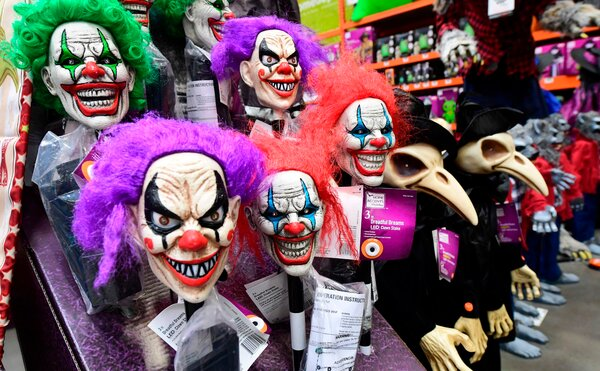 Halloween items for sale at a home improvement retailer store in Alhambra, California last month.