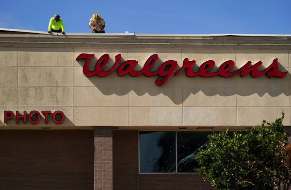 A Walgreens in Lake Charles, La., after Hurricane Laura passed through in August.
