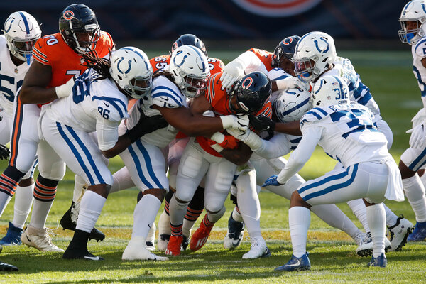 The Indianapolis Colts during a game against the Chicago Bears this month