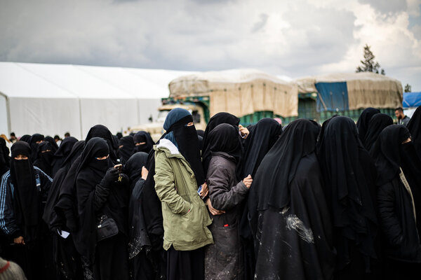 The Al Hol camp in Syria in 2019. Those seeking refuge in the United States have had to undergo interviews with immigration officers, among others, to obtain approval to travel to the United States.