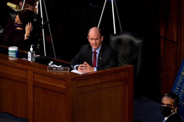Senator Chris Coons at the third day of hearings for Judge Amy Coney Barrett's confirmation to the Supreme Court.
