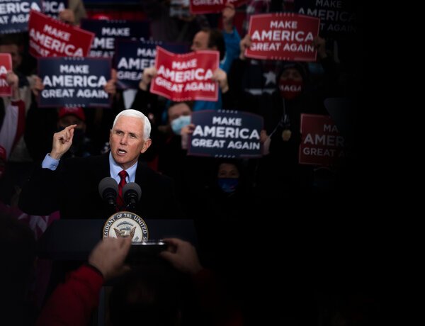 Vice President Mike Pence, who tested negative for the virus on Sunday, plans to continue campaigning rather than quarantine despite his exposure to aides who have the virus.