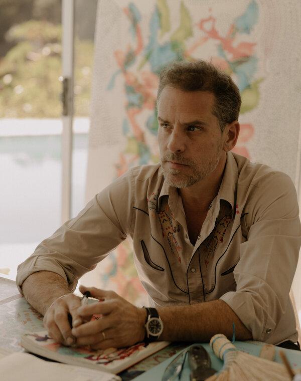 Hunter Bidenin his art studio in Los Angeles in 2019.