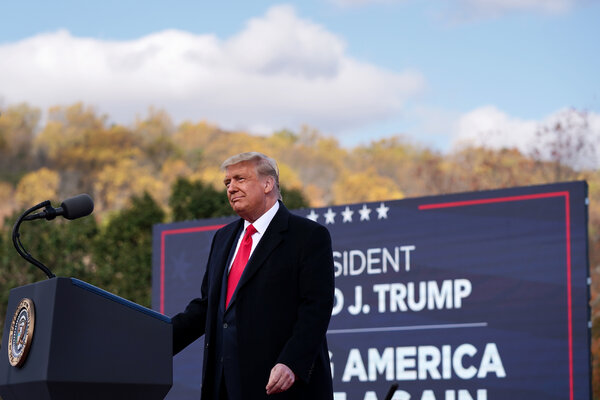 President Trump at a rally in Newtown, Penn., on Saturday.