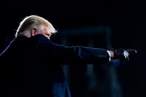 El presidente Trump en un mitin celebrado en Montoursville, Pensilvania, el sábado.