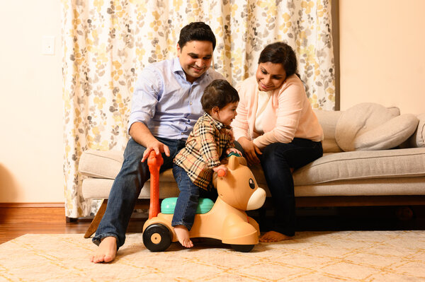 Nihit Gupta, a psychiatrist, and his wife, Shikha Jaiswal, a nephrologist, emigrated from India and now live in West Virginia with their son, Tasmay.