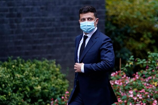 President Volodymyr Zelensky of Ukraine said on Monday that he had tested positive for the coronavirus.