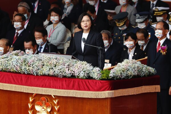 President Tsai Ing-wen of Taiwan at a National Day celebration in Taipei, last month.