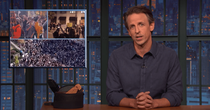 Seth Meyers Celebrates Election Results Coming Up Biden