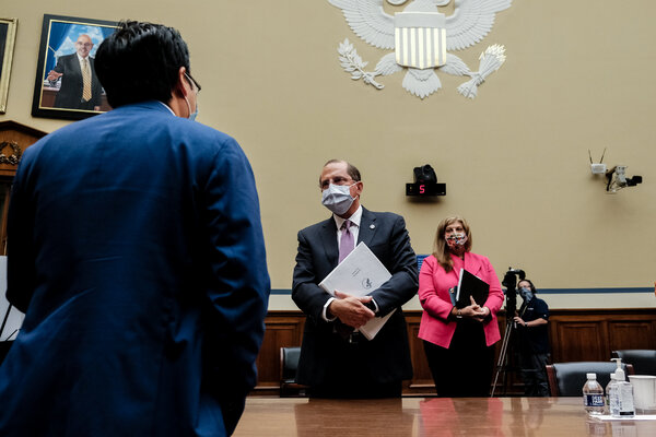 Alex M. Azar II, the secretary of health and human services, on Capitol Hill in October.