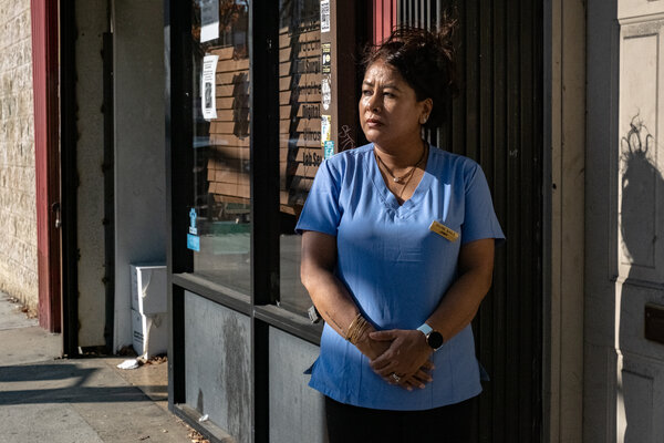 Rambika Ulak KC, who owns Divine Nails in Queens, sees only about four customers a day.