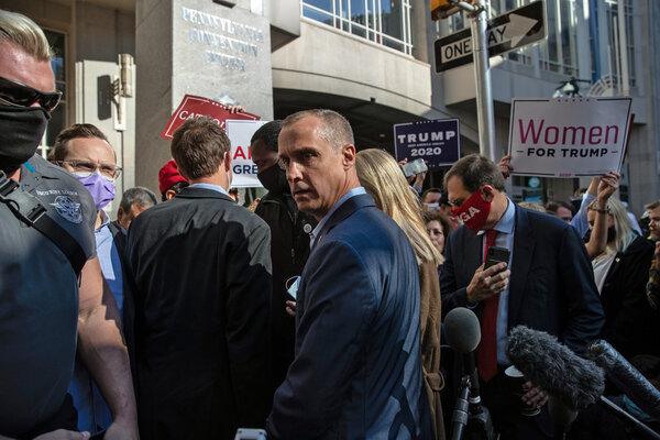 Corey Lewandowski, a Trump campaign adviser, in Philadelphia last week.