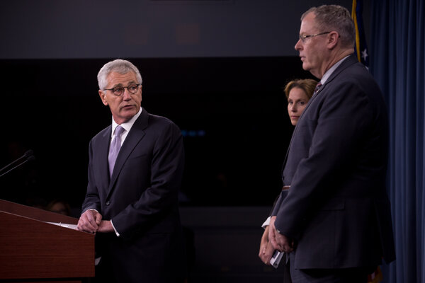 Chuck Hagel, the former Secretary of Defense, and other former public officials from both parties wrote a letter to the General Services Administration on Friday.