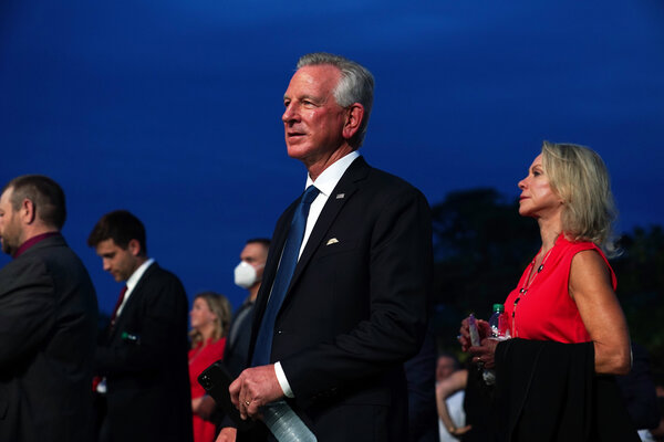 """""""Our government wasn't set up for one group to have all three branches of government — wasn't set up that way,"""" said Senator-elect Tommy Tuberville, Republican of Alabama. """"You know, the House, the Senate, and the executive."""""""