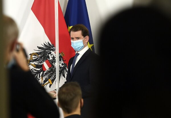 """""""My urgent request: Do not meet anybody,"""" said Austria's chancellor, Sebastian Kurz. """"Every social contact is one too many."""""""