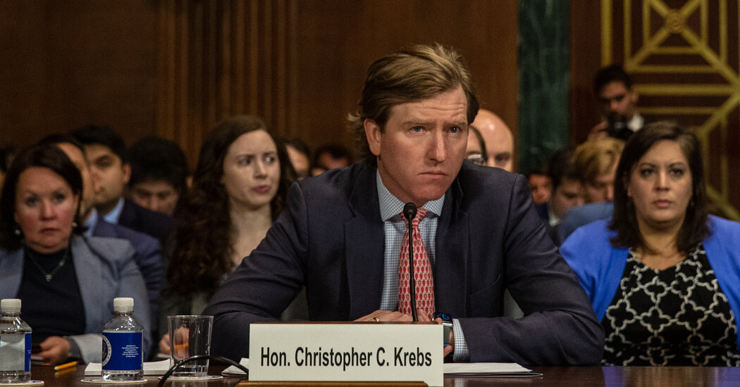 Trump Fires Christopher Krebs, Official Who Disputed Election Fraud Claims