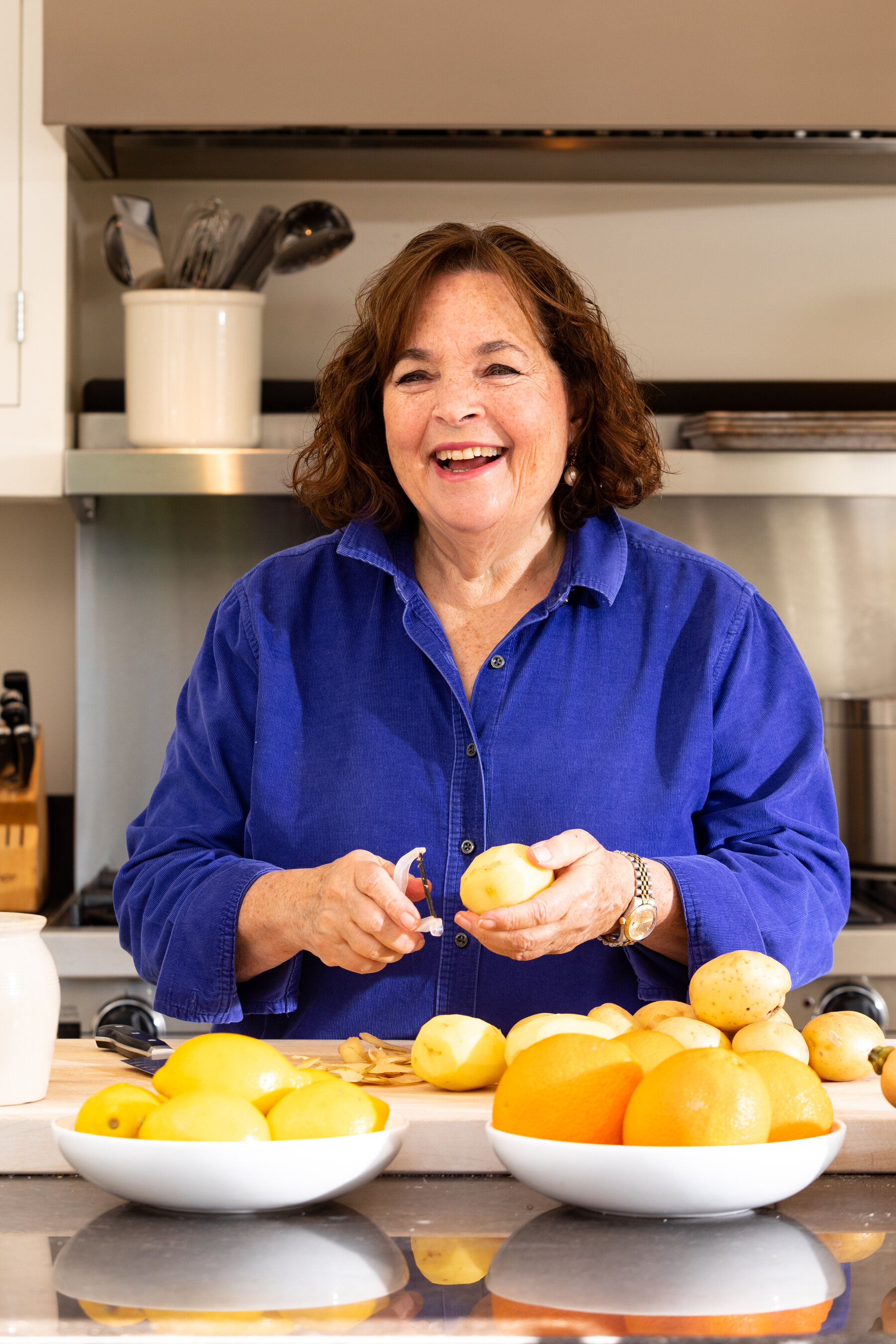 1 1/2 pounds russet (baking) potatoes, peeled (2 large) · 1 medium yellow onion · 2 tablespoons melted butter, plus extra for the waffle iron · 1. How Does Ina Garten The Barefoot Contessa Do It The New York Times