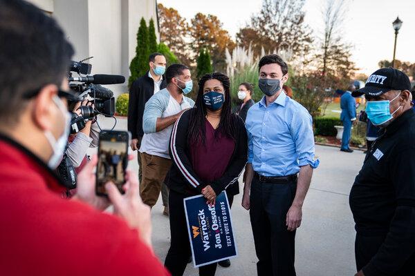 Progressive groups are supporting Jon Ossoff in his runoff race against Senator David Perdue of Georgia.