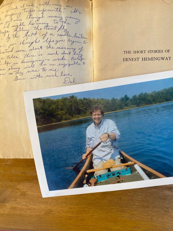 """Ms. Few's father, Harry Few, gave her his copy of Ernest Hemingway's short stories before he died in 2014. """"There is much about living and life in Hemingway's words,"""" he wrote. """"Perhaps these stories will be as enjoyable to you as they were to me."""""""
