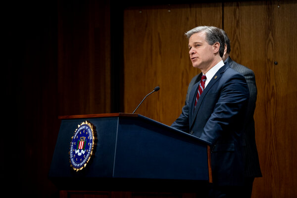 President Trump appointed Christopher Wray, a Republican who served in President George W. Bush's administration, to succeed James Comey as F.B.I. director.