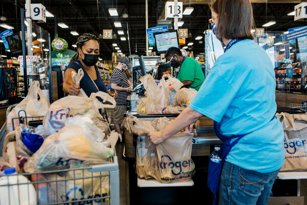 If you go grocery shopping, wear a mask, stay distant from others, and wash your hands afterward.