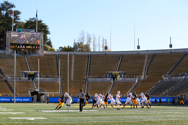 Stanford played California in an empty stadium on Friday in Berkeley.