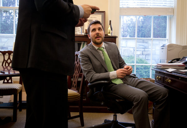 Brian Deese, at the White House in 2015, will lead the National Economic Council in the Biden administration.