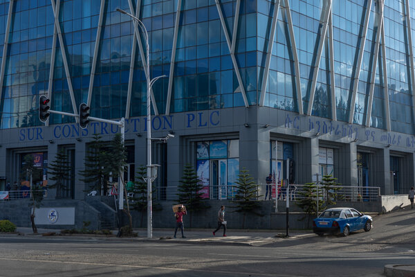 The headquarters of Sur Construction in Addis Ababa. The company is one of 34 subsidiaries of the Endowment Fund for the Rehabilitation of Tigray whose bank accounts have been frozen by the government.