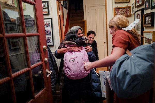 Sunita Viswanath welcomed Ms. Peren to her Brooklyn home.