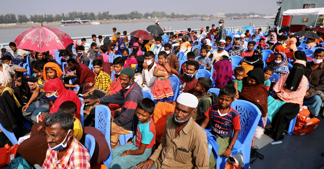 From Crowded Camps to a Remote Island: Rohingya Refugees Move Again