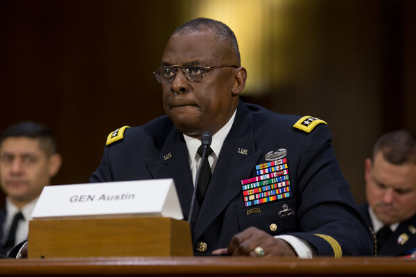 Gen. Lloyd J. Austin III during a Senate hearing on military operations to counter the Islamic State in 2015.