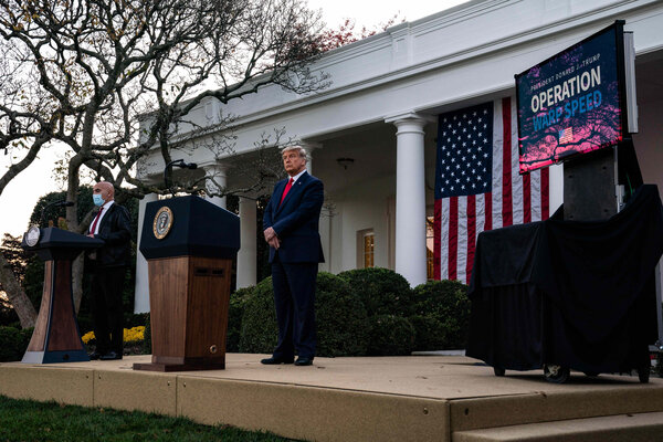 Dr. Moncef El-Salawi, head of Operation Warp Speed, provided an update from the White House Rose Garden on Friday.
