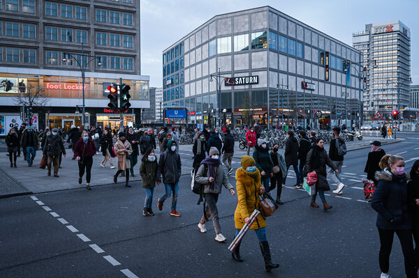 In Berlin this week. Germany's health authorities registered 33,777 new coronavirus infections on Thursday, a daily record.