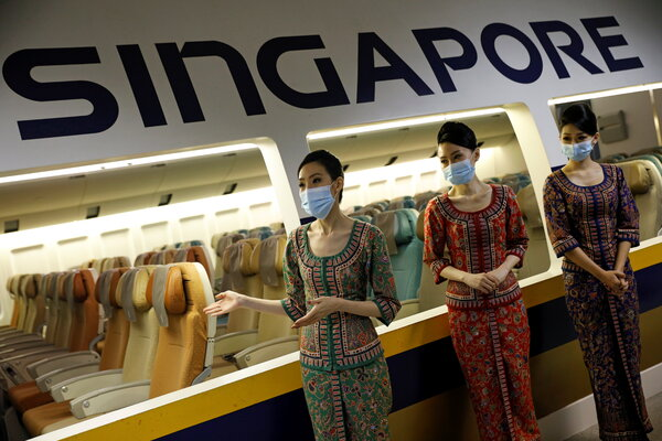 """Singapore Airlines will soon offer """"health passports"""" to travelers that can store coronavirus test results and vaccination records."""