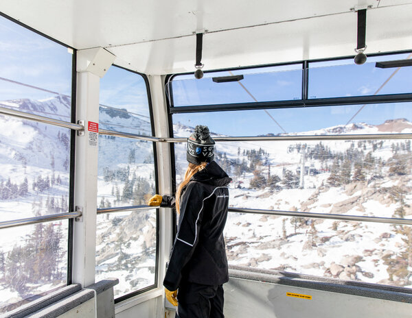 A lift at Squaw Valley, which has had only a trickle of skiers.