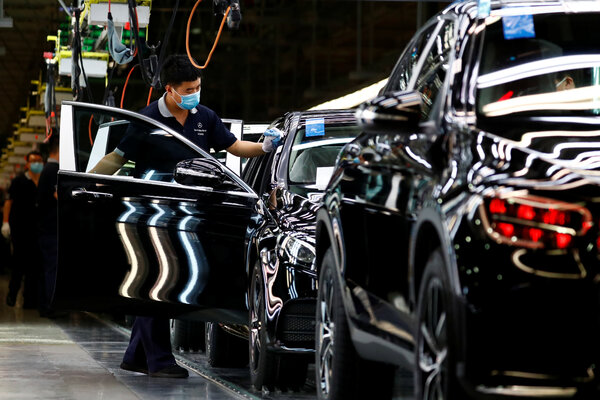 A Daimler-BAIC plant in Beijing this spring. The pact would loosen many restrictions on European companies operating in China.