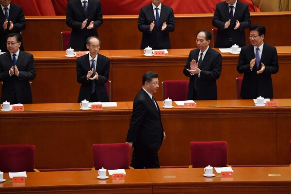 China's top leader, Xi Jinping, front, in Beijing in October. China was eager to reach an agreement before President-elect Joseph R. Biden Jr. takes office next month.