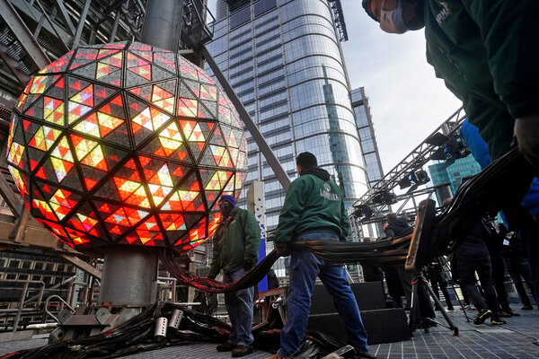 The Times Square ball's descent will be livestreamed from New York.