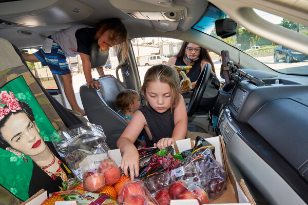 Since the coronavirus pandemic upended her life and so many others', Alexis Frost Cazimero has spent many days gathering food for her four children as well as for neighbors in need.