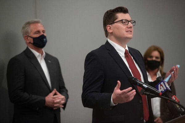 Jake LaTurner in October, when he was campaigning for a House seat in Kansas.