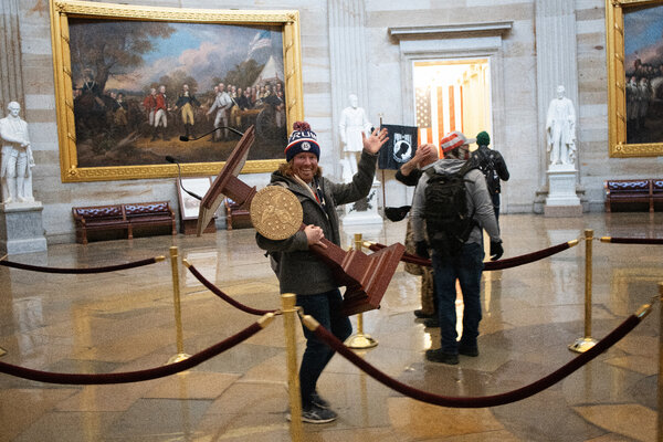 Adam Johnson was arrested on Friday for participating in the breach of the U.S. Capitol Building on Wednesday.