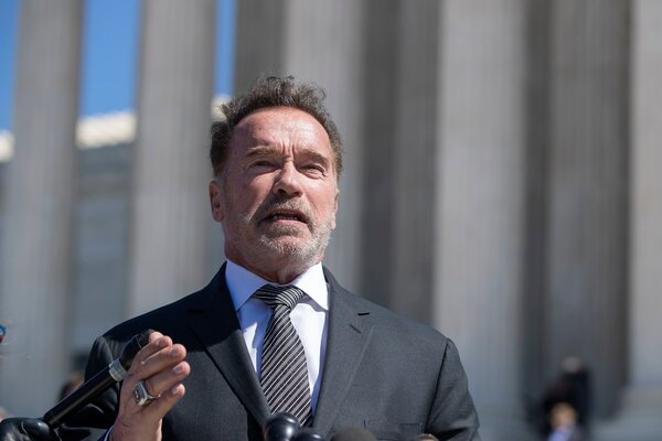 """""""My father and our neighbors were misled also with lies, and I know where such lies lead,""""Arnold Schwarzenegger said in a video he posted on Twitter on Sunday."""